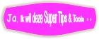 Knop paars, super tips